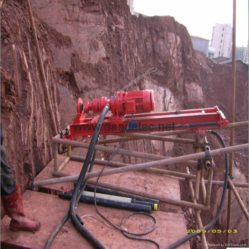 Our DTH drilling machine is used for slope drilling