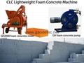 hose type foam concrete machine for making blocks