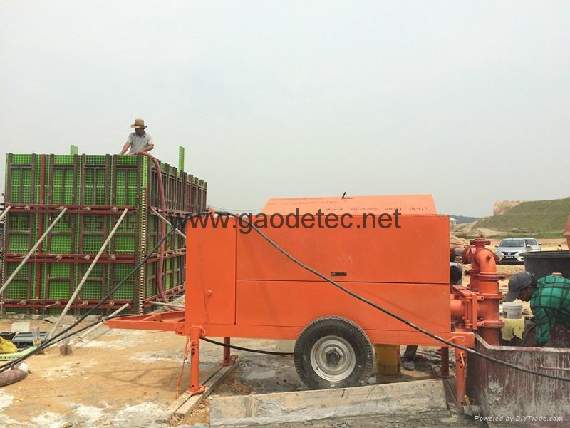 Foam concrete pump for sale gh and gp30 gaodetec for Foam concrete forms for sale