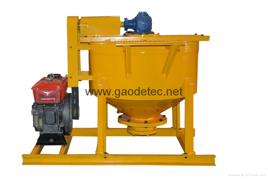 Customized yellow grout mixer for Thailand Customer