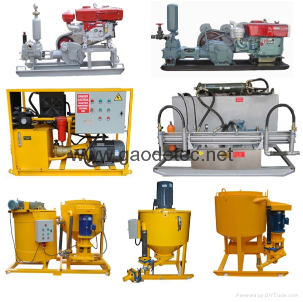 Other types grout pump and mixer for option