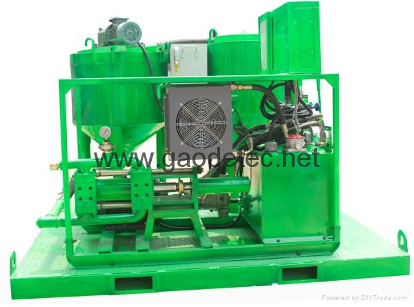 Customized green grout mixer pump forSwiss customer