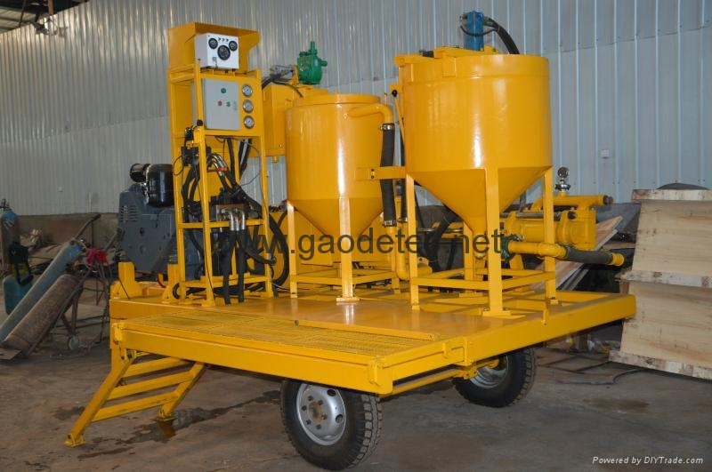 different angles of truck type diesel grout station