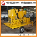 Trailer mounted diesel engine drive grout mixer pump from factory to Thailand