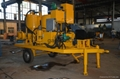 trailer mounted grout mixer pump in difference angles
