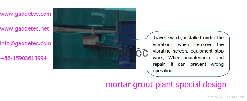 detailed parts of mortar grout equipment, other types electric grout equipment for sale