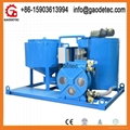compact high capacity all in one hose type grout mixer