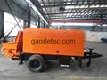 Concrete mixing trailer pump for sale
