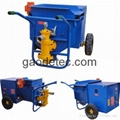 Mortar spraying machine application