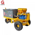 large output wet mix shotcrete machine for spraying concrete in Mine project