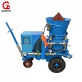 Refractory dry-mix spraying shotcrete machine