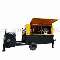 Continuous clc diesel foam concrete block machine