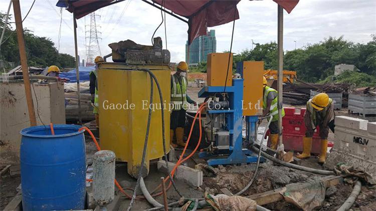 GDH75/100 高压立式注浆泵用在大坝 10