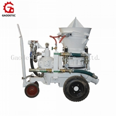 Portable Air Drive Dry Refractory Gunning Concrete Shotcrete Machine