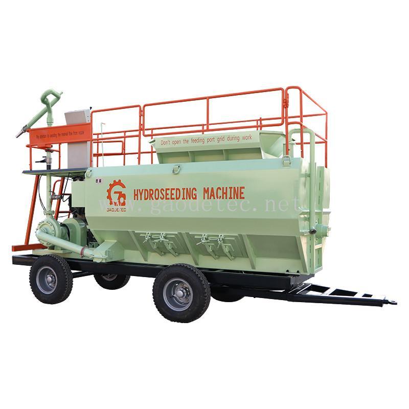 CE hydroseeder spray grass seed