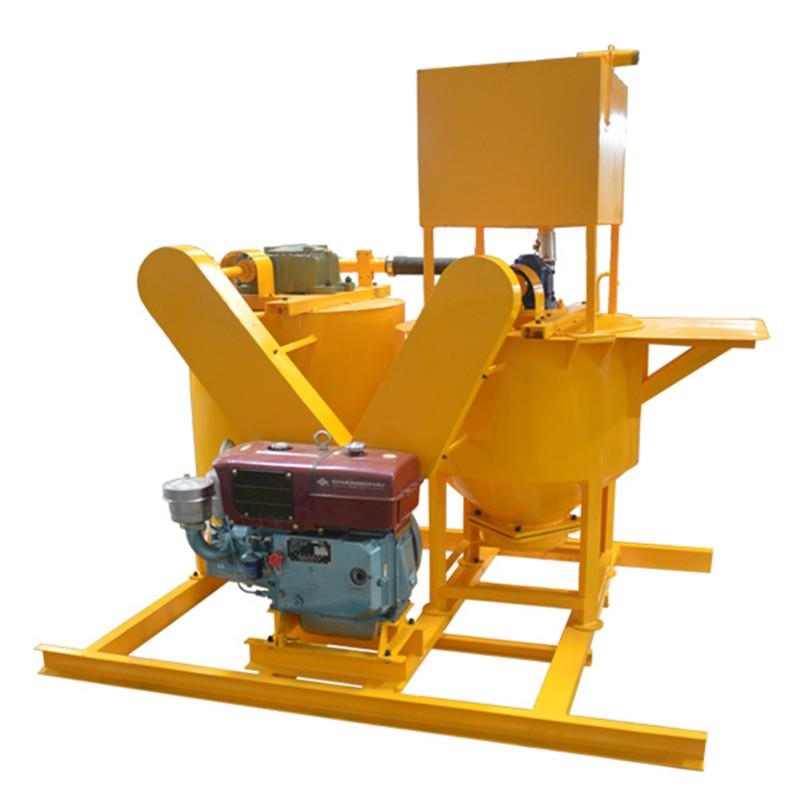Diesel engine grout mixer and agitator
