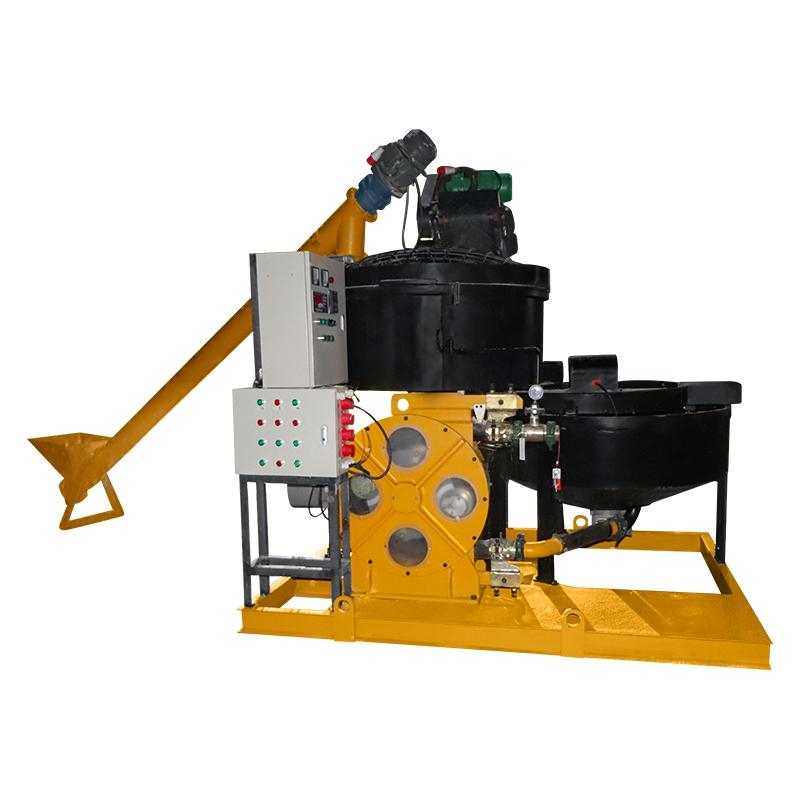 Foam concrete machine with hose pump