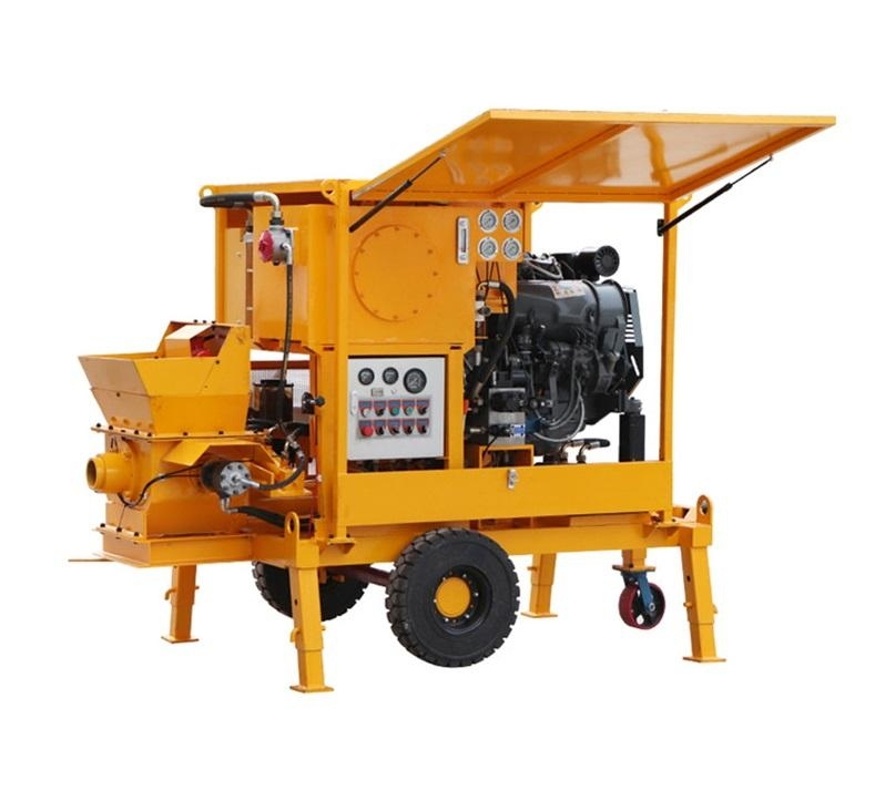 Diesel engine mini concrete pump