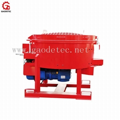 Good quality refractory pan mixer machine price for sale