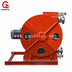 hose pump for conveying of pulp color and glues