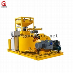 cement grout mixer and agitator grouting pump plant for backfill