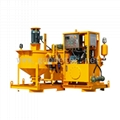 Cement grout mixing and pump machine