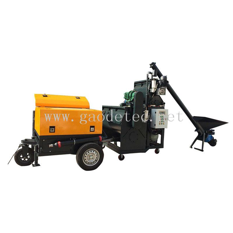 high mixing frequency GF5H foam cement blocks machinery for block making