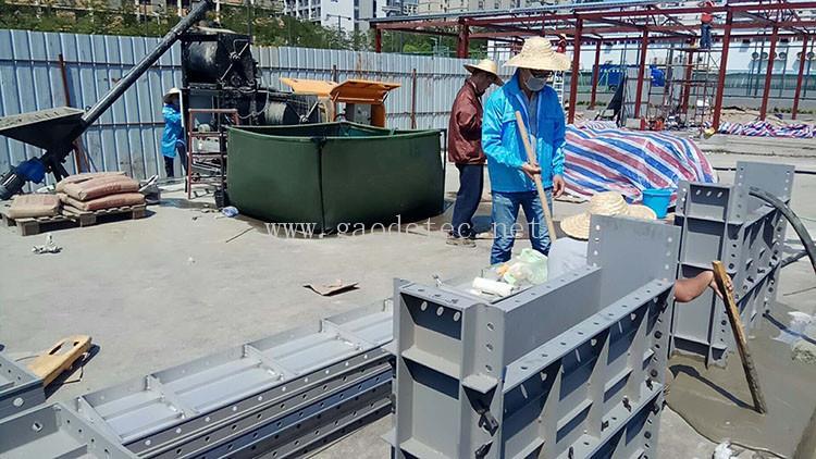 concrete foam machine application