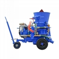 Best price good quality 1-5m3/h Air motor dry mix shotcrete spray machine