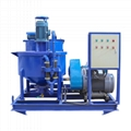 Three cylinders piston grout pump with mixer for construction