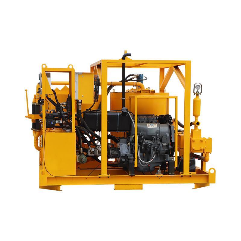 High quality diesel drive grout mixer and pump price 7