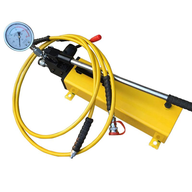 single acting hollow jack with hand hydraulic pump
