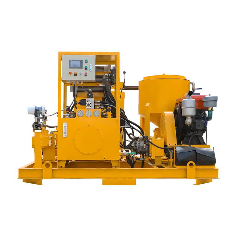 Popular high pressure diesel engine driven grout plant 2