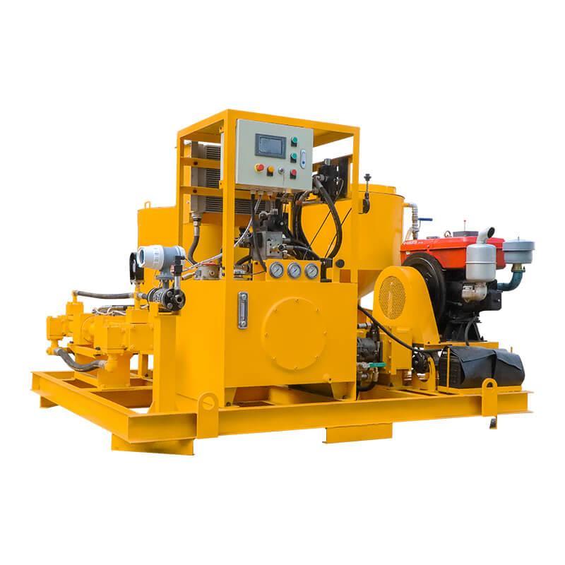 Popular high pressure diesel engine driven grout plant 5