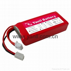RC LiPo Battery for Robot 11.1V 1100mAh 15C