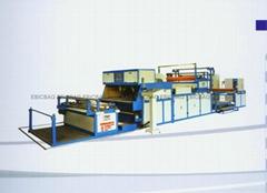 Adhesive spraying lamination machine
