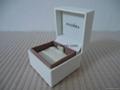 Pandora ebonite box 5x5x4cm (white ribbon inside) for charm old version