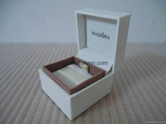 Pandora ebonite box 5x5x4cm (white ribbon inside) for charm old version