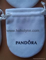 Pandora velvet pouch 10x8cm (large, white) old version