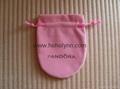Pandora velvet pouch 10x8cm (large, pink) old version