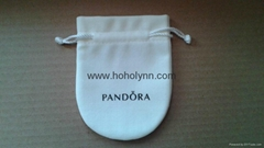 Pandora velvet pouch 10x8cm (large, cream) old version