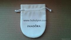 Pandora velvet pouch 10x8cm (large, cream) old version