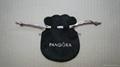 Pandora suede pouch 9x7cm (black, pink