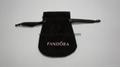 Pandora suede pouch 9x7cm (black, black