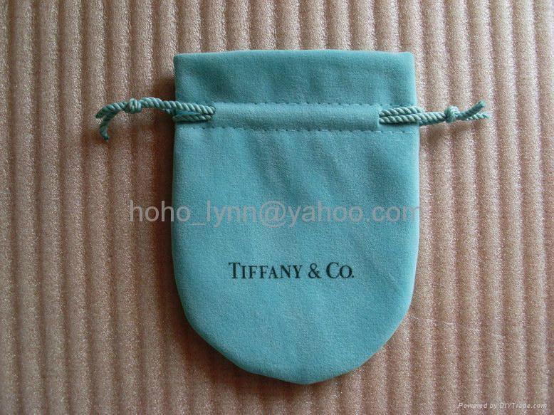 Tiffany velvet pouch_blue colour_large size