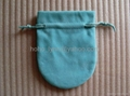 Tiffany velvet pouch_blue colour_large size