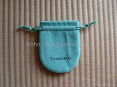 Tiffany velvet pouch_blue colour_small size