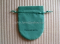 Tiffany velvet pouch_green colour_large size
