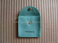 Tiffany sheepskin pouch_blue colour_square