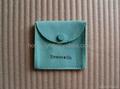 Tiffany sheepskin pouch_blue colour_square